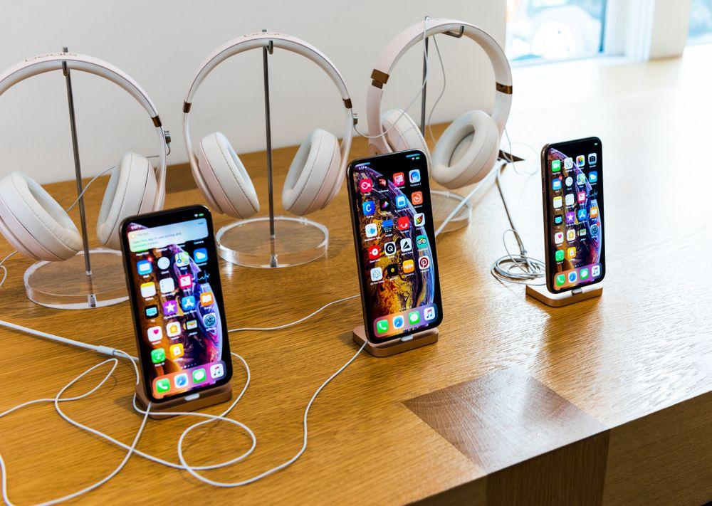 iPhoneXsMAXは中央