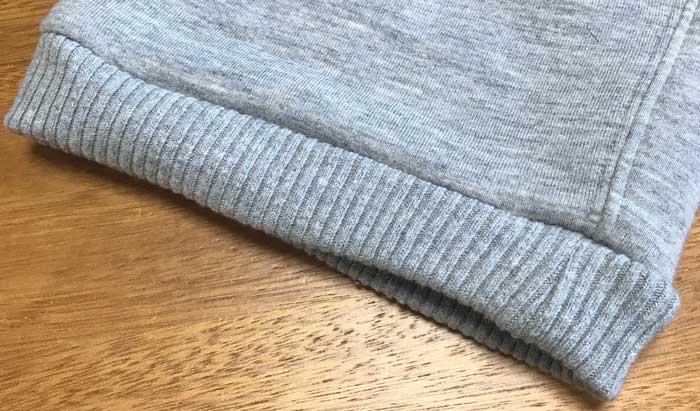 ニトリあったかボアパンツの裾の画像