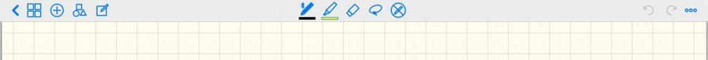GoodNotes4のツールの切替です。