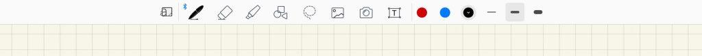 GoodNotes5のツールの切替です。