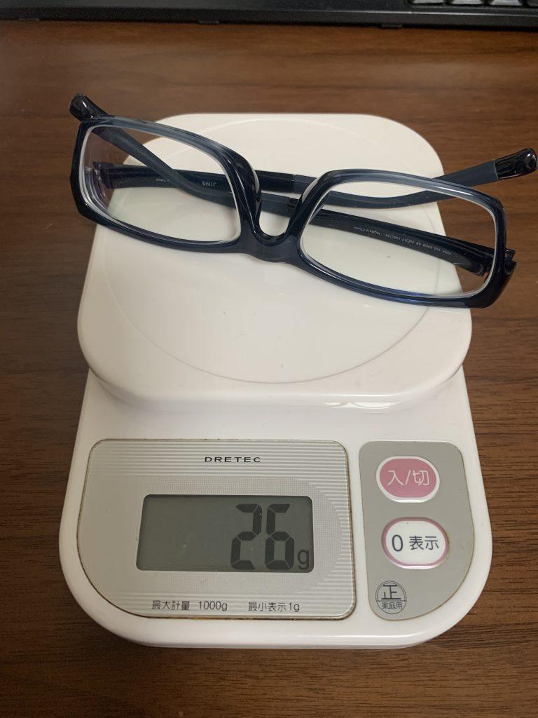 JINZ眼鏡はキズがつきやすく重かった。