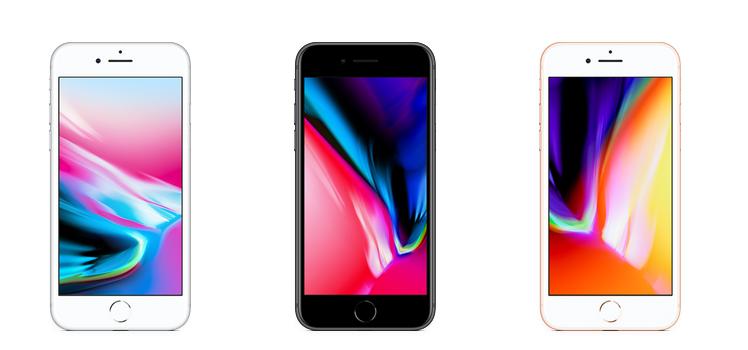 iPhone8までは、フロント面も白かったですよね。
