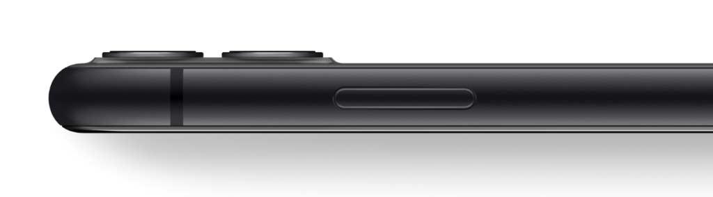 iPhone11のブラックのサイドパネル