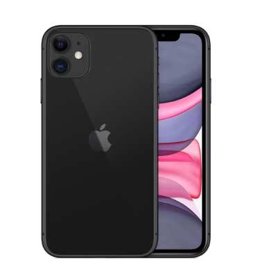 iPhone11のブラックの全体像