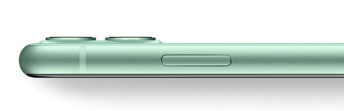 iPhone11のグリーン(新色)の正面から
