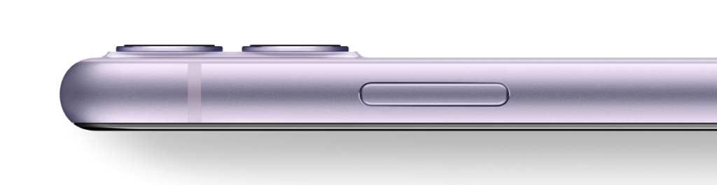 iPhone11のパープル(新色)のサイドフレーム