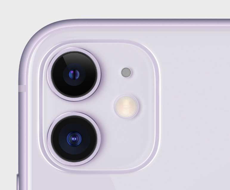 iPhone11のパープル(新色)のカメラ周り