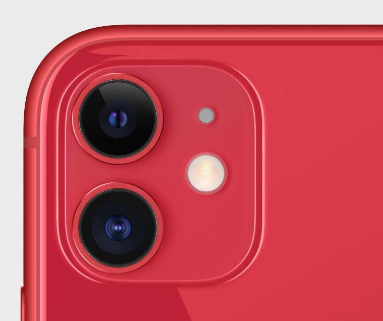 iphone11のレッド側面