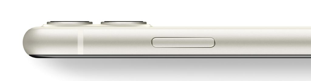iPhone11のホワイトのサイドフレーム