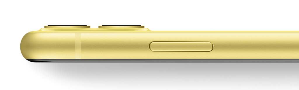 iPhone11のイエロー本体