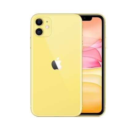 iPhone11のイエローの全体像