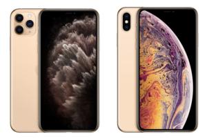 左:iPhone11Pro 右:iPhoneXsゴールド