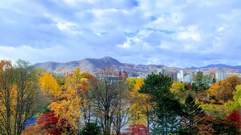 今回はパークホテルの5階に宿泊しましたが、窓から見える景色です。