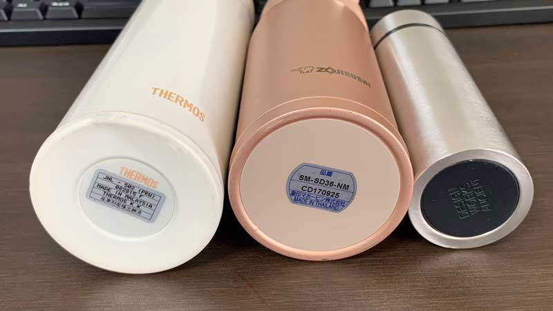 水筒の直径を比較