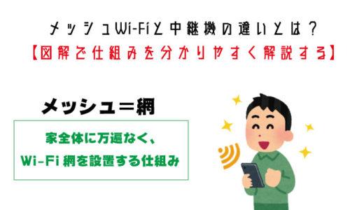 メッシュWi-Fiと中継機の違いとは?【図解で仕組みを分かりやすく解説する】