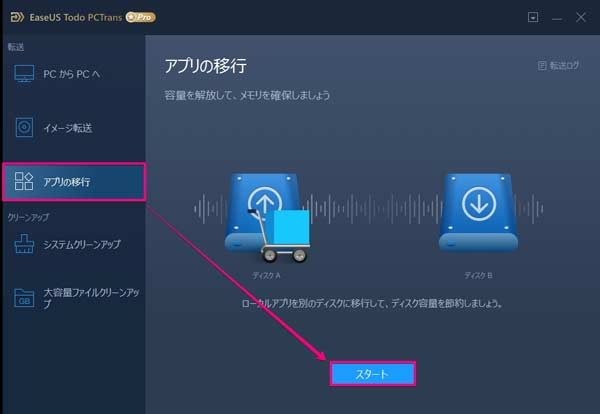 EaseUS Todo PCTrans Pro 11.0の使用手順2