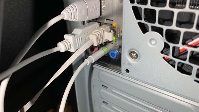 【ロジクール】PCスピーカー Z120BWの音声入力端子