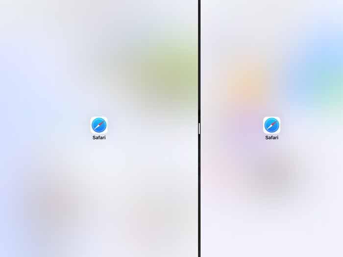 iPadを2画面表示を戻す解除方法1