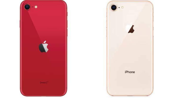 iPhone8と比較すると全ての寸法が全く同じ
