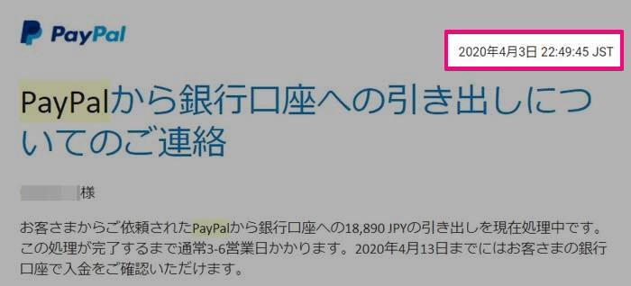PayPalの出金手続