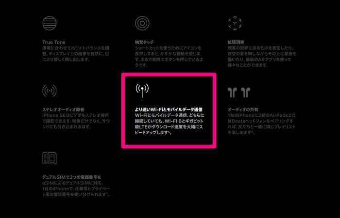 新型iPhoneSE(第2世代)は、新規格WiFi6に対応!