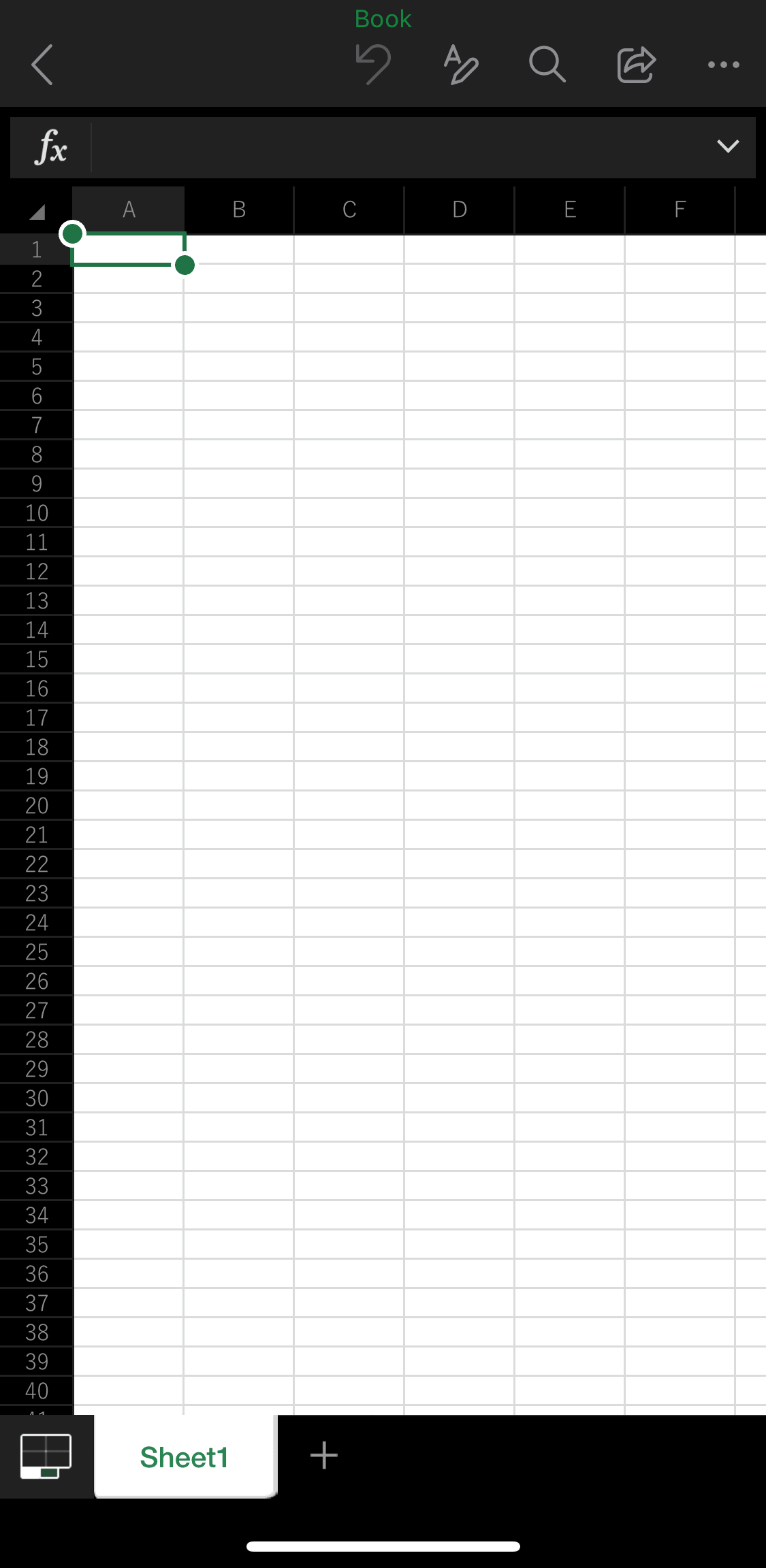 iPhoneでのエクセルアプリの使い方・編集方法・保存方法27
