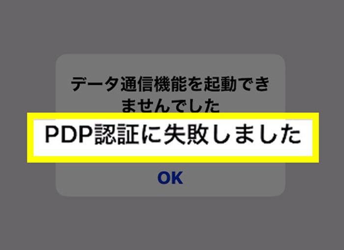 PDP認証失敗!の原因・意味とは