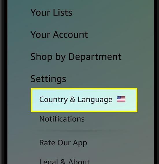 Coutry&Languageをタップします。