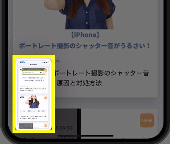 【iPhone】Webページ全体をスクリーンショットする方法3